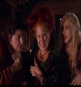 Evil witch sister trio Hocus Pocus