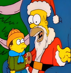 Homer Simpson mall Santa job the Simpsons
