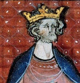 French king Hugh capet with golden crown