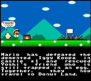 Iggy Koopa castle destroyed super Mario World snes super Nintendo