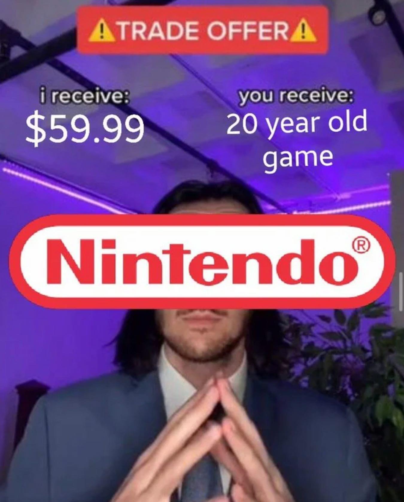 Memes Nintendo reselling old games