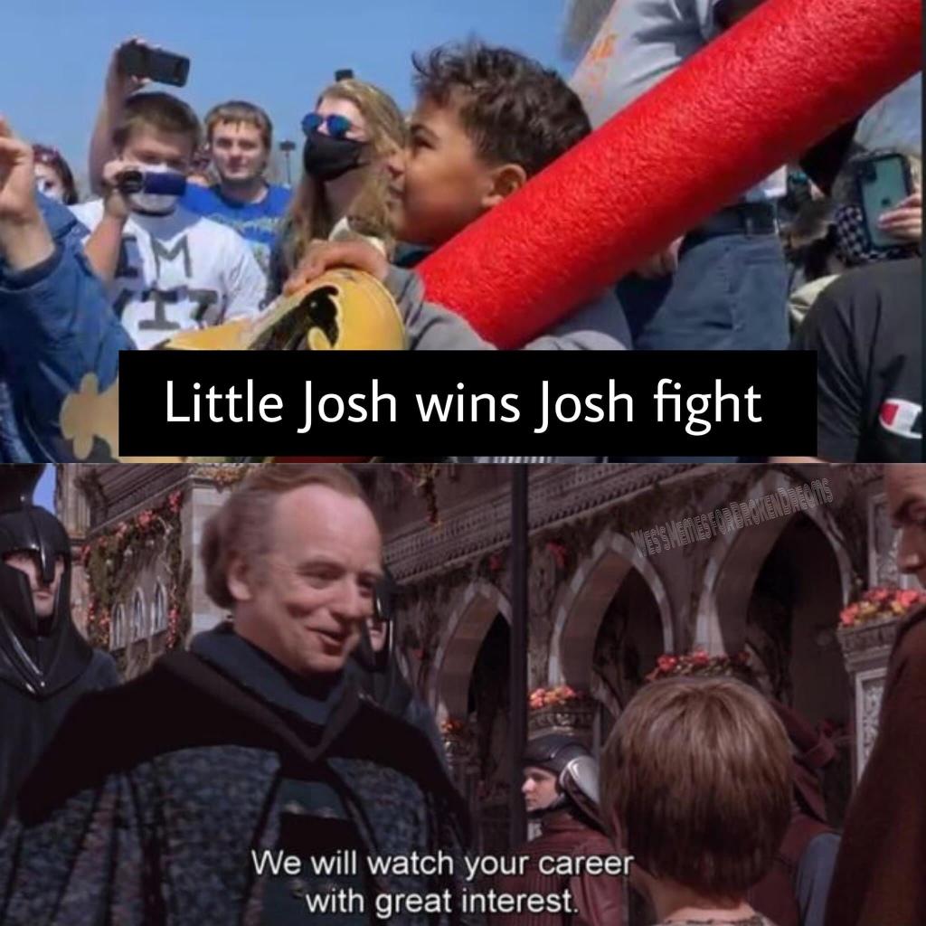 Memes Little Josh wins the Josh fight