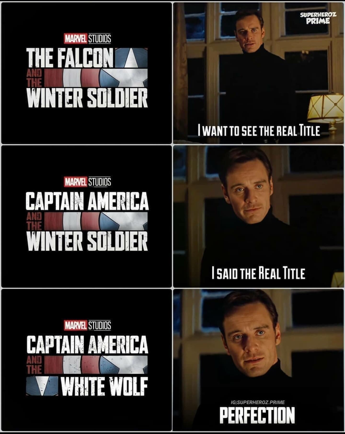 Memes Captain America and the white wolf