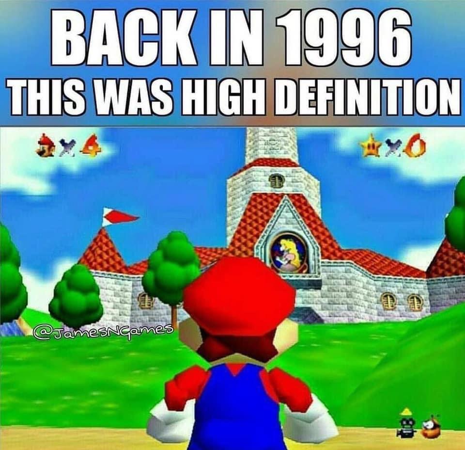Memes Super Mario 64 graphics Nintendo 64