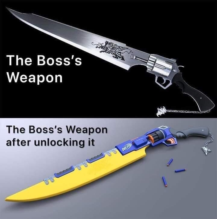 Memes Video game boss weapon