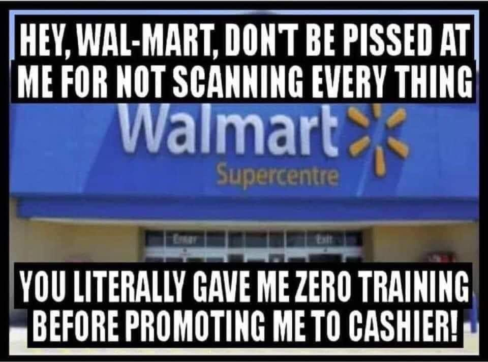 Memes Walmart self check out