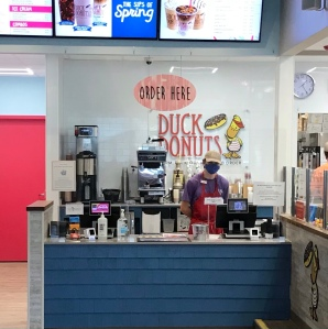 Duck donuts cashier counter