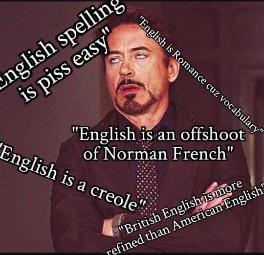 Memes what kind of language is English