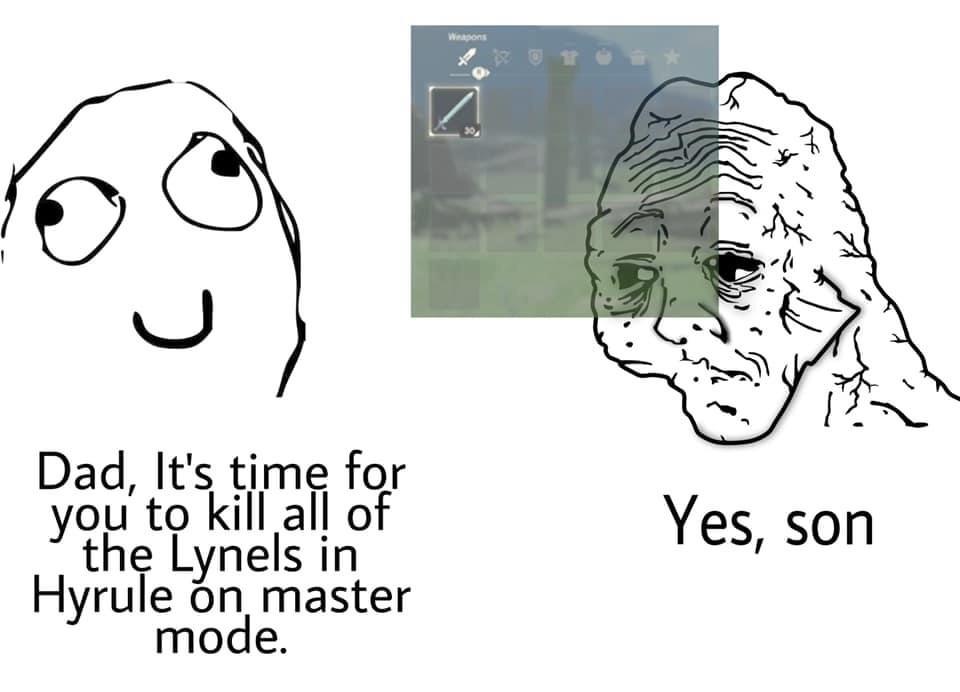 Memes lynel battle The legend of Zelda breath of the wild
