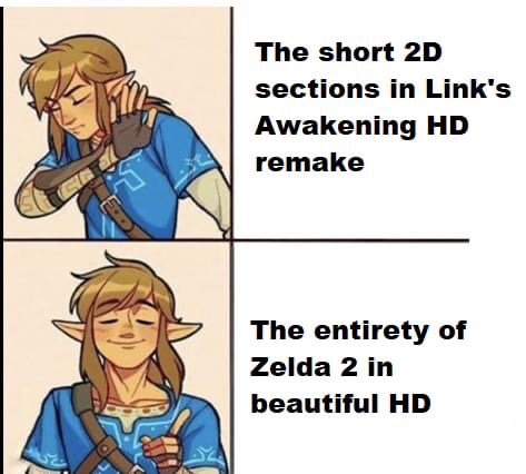Memes remaking Zelda 2