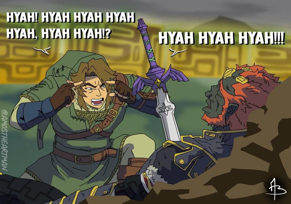Memes The legend of Zelda twilight Princess link versus ganondorf