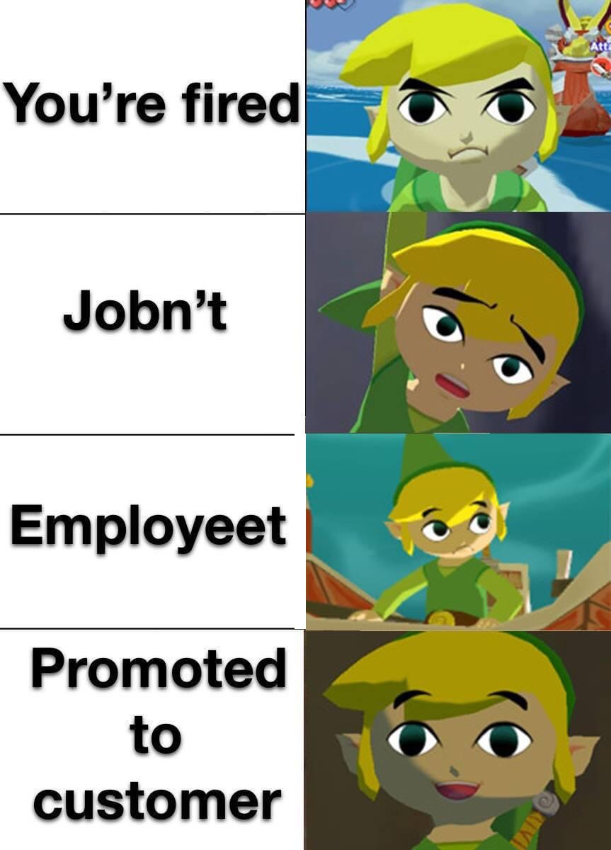 Memes being promoted to customer the legend of Zelda wind Waker
