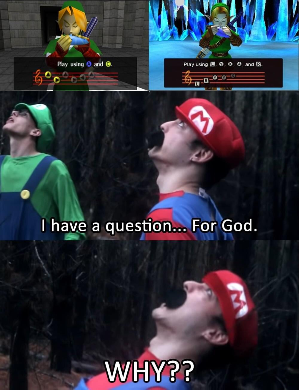 Memes The legend of Zelda ocarina of time playing the ocarina
