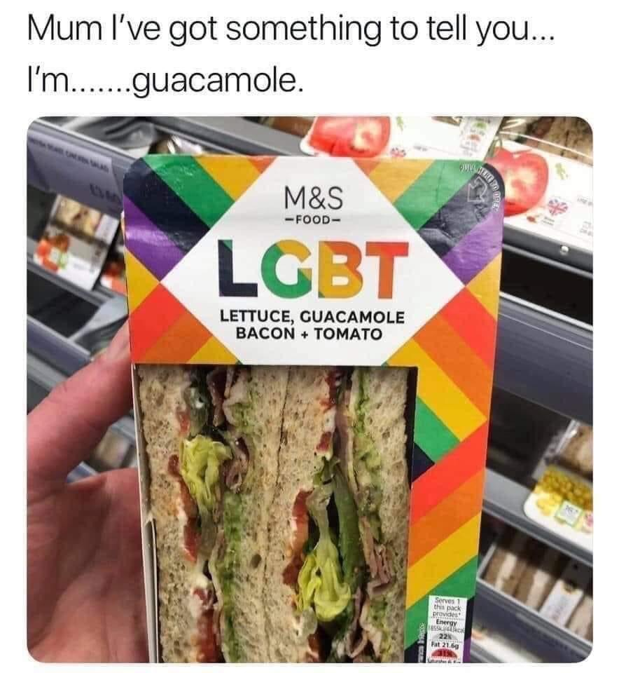 Memes LGBT lettuce guacamole bacon tomato