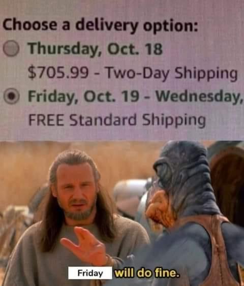 Memes expensive Amazon shipping
