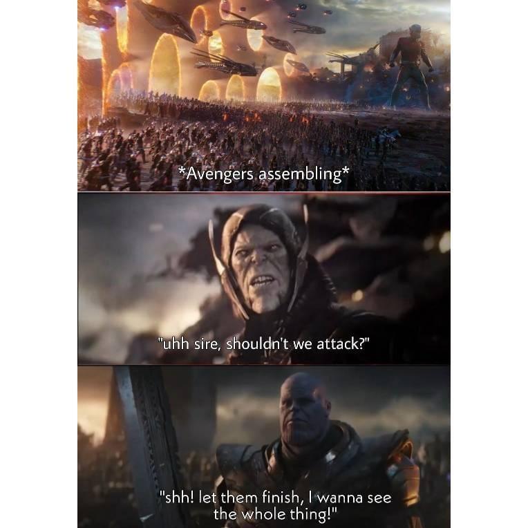 Memes Avengers assemble avengers endgame