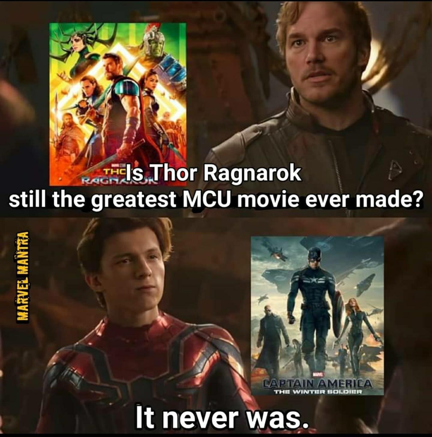Memes Thor Ragnarok versus captain America the Winter soldier