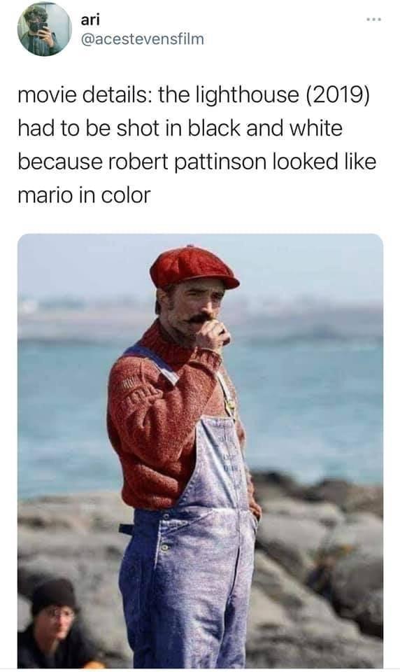 Memes Robert Pattison lighthouse super Mario Nintendo
