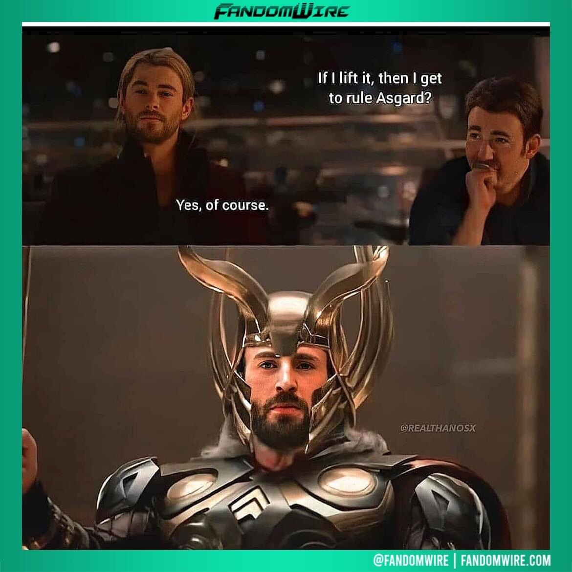 Memes Captain America and Thor