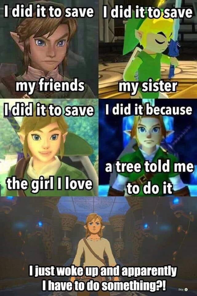 Memes The legend of Zelda breath of the wild link waking up