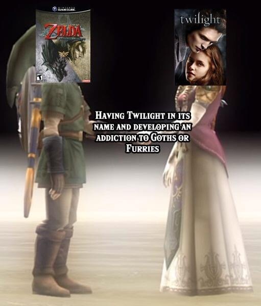 Memes The legend of Zelda twilight princess twilight Robert Pattinson Kristen Stewart