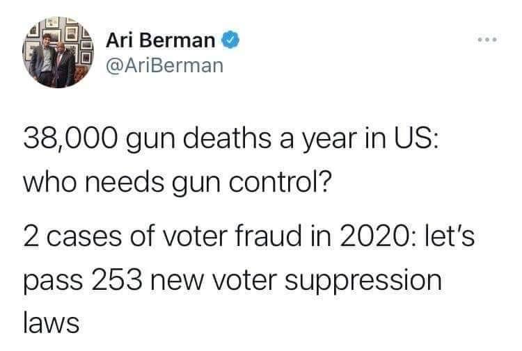Memes gun violence versus voter fraud