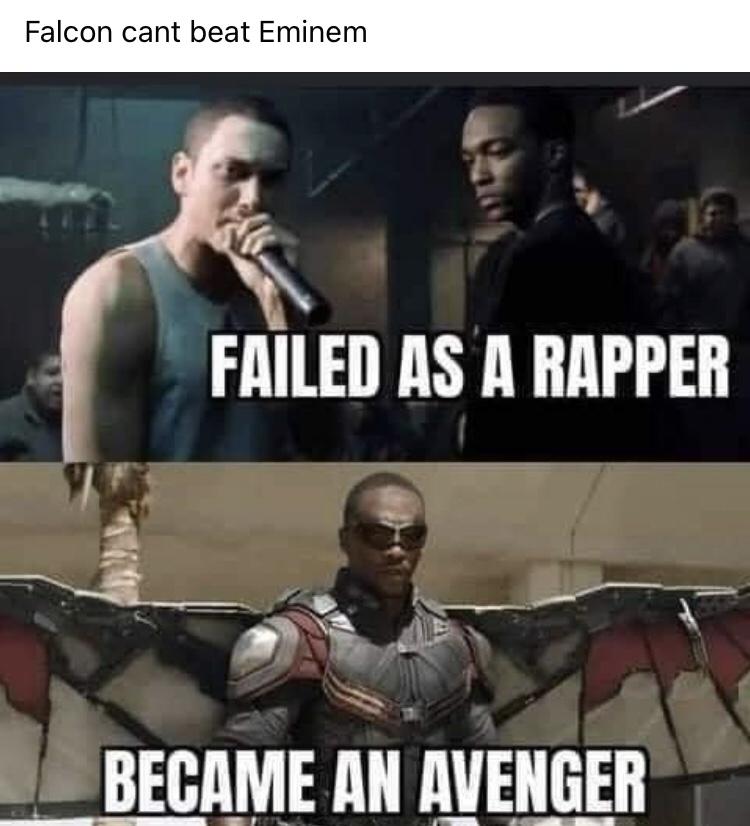 Memes Sam Wilson versus Eminem