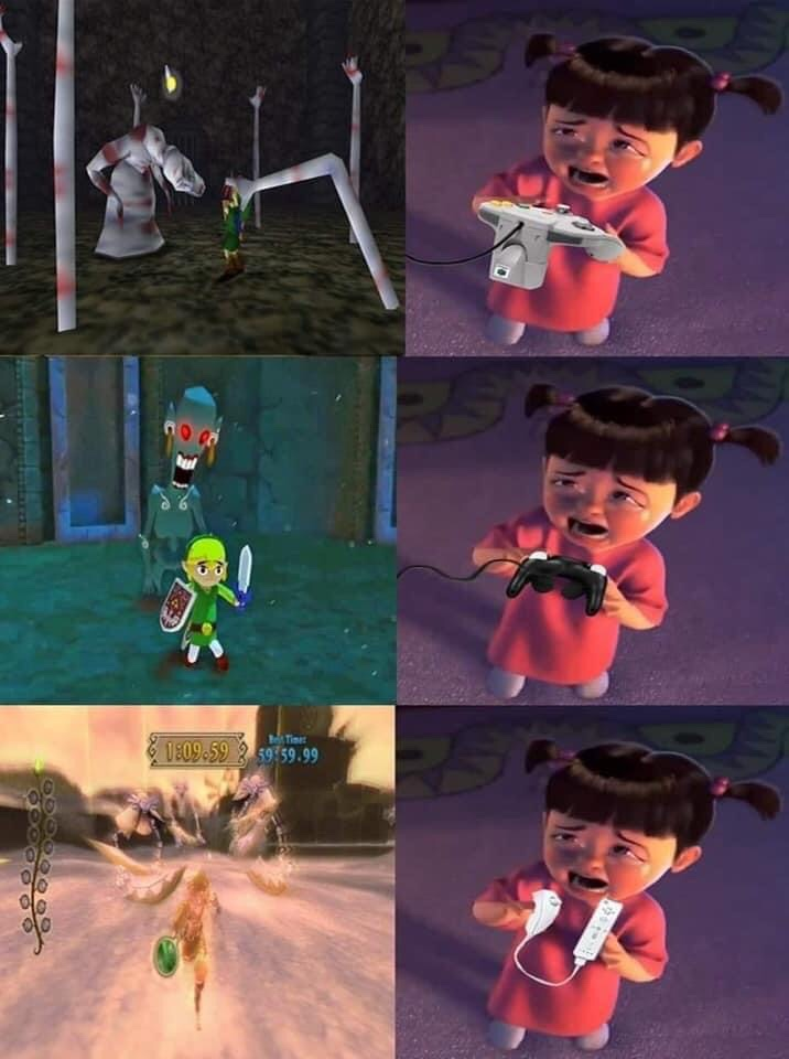 Memes scary moments in Zelda games