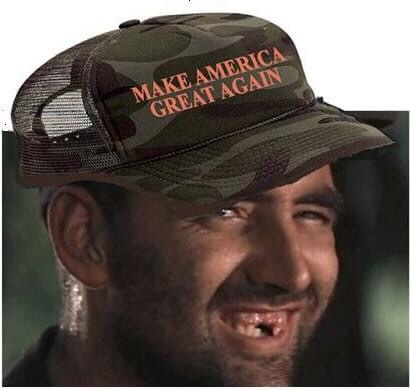 Memes make America great again redneck idiot with no teeth