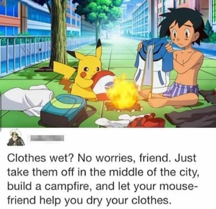Memes Pokémon anime ash and Pikachu