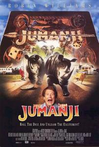 Jumanji movie poster 1995 Robin Williams