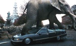 Elephant stampede Jumanji 1995
