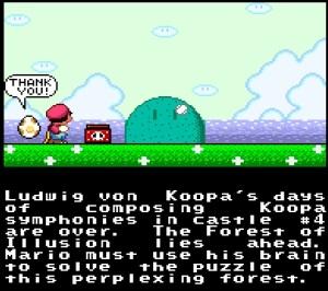 Yoshi egg Ludwig Von Koopa castle destroyed super Mario World snes super Nintendo
