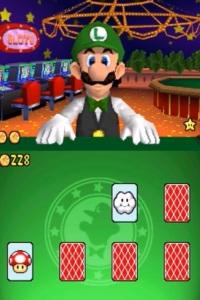 Luigi casino dealer card game Super Mario 64 DS Nintendo DS
