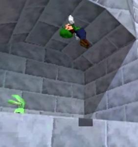 Luigi finding secret bunny Super Mario 64 DS Nintendo DS