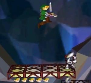 Link vs metal Mario Super Smash Bros. Nintendo 64 N64