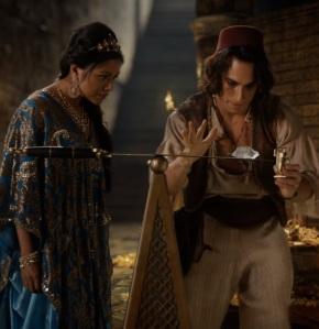 Aladdin and Princess Jasmine take a diamond from the cave of Treasures once upon a time ABC Karen David deniz akdeniz