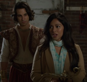 Genie Aladdin and Princess Jasmine returned home once upon a time ABC Karen David deniz akdeniz