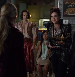 Aladdin being controlled by the evil queen Regina once upon a time deniz akdeniz Lana parrilla