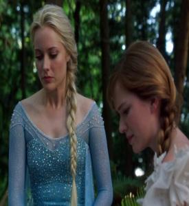 Queen Elsa and princess Anna once upon a time ABC Georgina haig