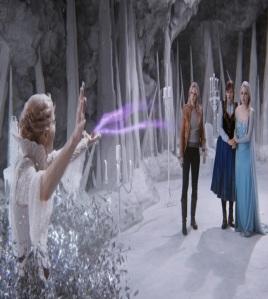 Queen Elsa Emma Swan and princess Anna vs Ingrid once upon a time ABC Georgina haig
