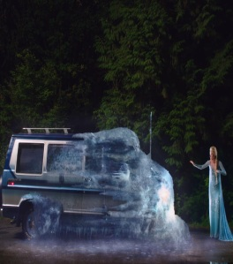 Queen Elsa freezes van once upon a time ABC Georgina haig