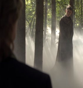 Gideon Gold greets father Rumplestiltskin as Morpheus once upon a time Giles Matthey