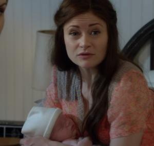 Gideon Gold as baby with mother Belle once upon a time