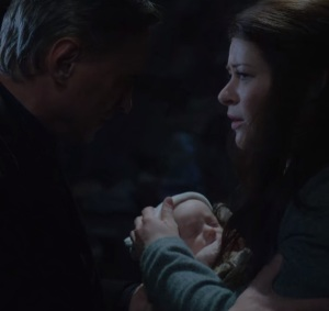 Gideon Gold restored as a infant Mr gold Rumplestiltskin and Belle once upon a time
