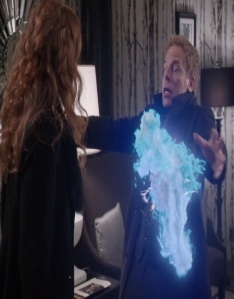 Zelena kills hades with Zeus lightning bolt once upon a time ABC Greg Germann