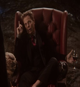 Hades on his throne in the underworld once upon a time ABC Greg Germann