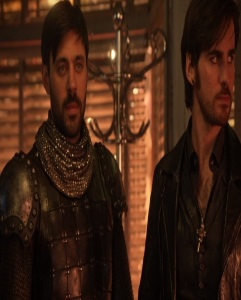 King Arthur and Hook in the Underworld once upon a time Liam Garrigan