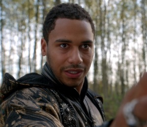 Merlin pleads to Nimue once upon a time ABC Elliot Knight