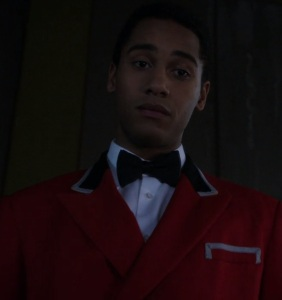 Merlin posing as a movie theater usher once upon a time ABC Elliot Knight